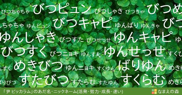 尹 ビッカラム(ゆん びっからむ)の「活発・努力・成長・速い」イメージ ...